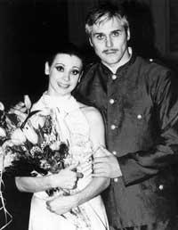 Ирина Сурнева и Гедиминас Таранда после спектакля